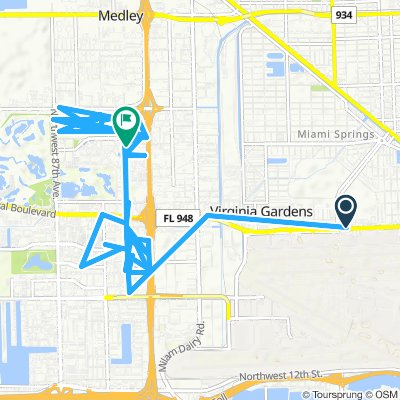Moderate route in Doral