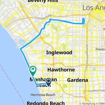 Supersonic route in Manhattan Beach