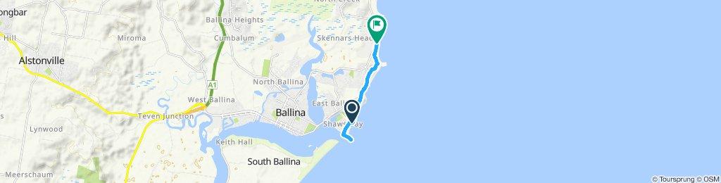 sharpes beach to bmBallina