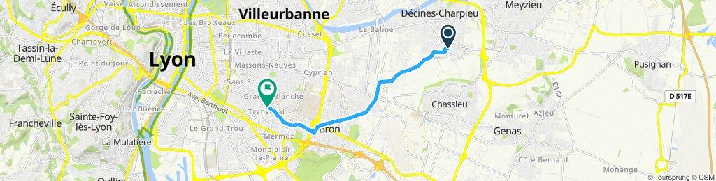 Itinéraire confortable en Lyon