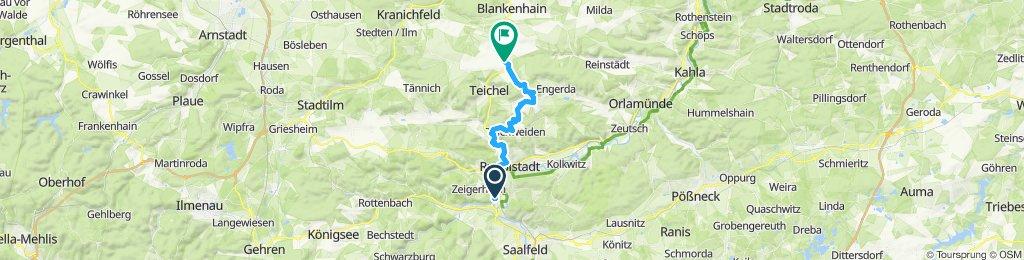 Von Rudolstadt ins Färberdorf Neckeroda