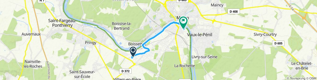 Relaxed route in Melun