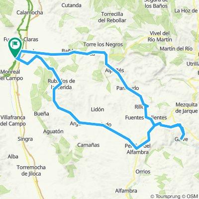 Volta Circular fins a Galve - per Rubielos i tornada per Alpeñés i Bañón