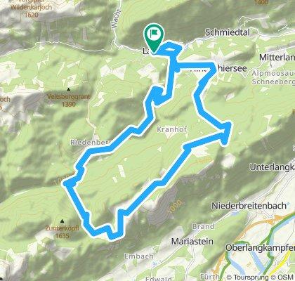Landl - Riedenberg - Buchacker Alm - Hundsalmjoch