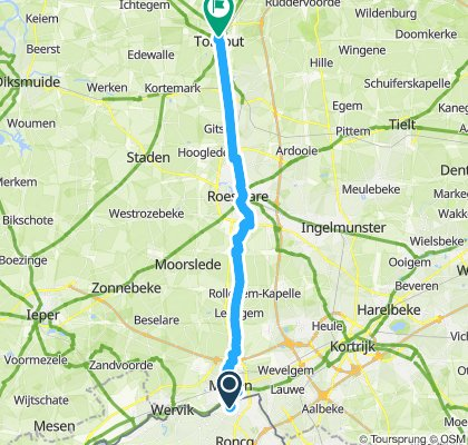 Itinéraire confortable en Torhout