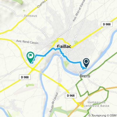 Itinéraire modéré en Gaillac