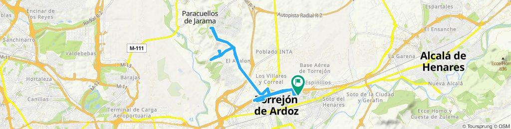Ruta constante en Torrejón de Ardoz - paracuello