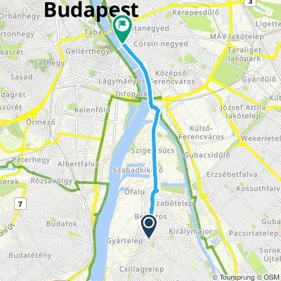Csepel központ - Budapest Belváros kerékpárral 2019