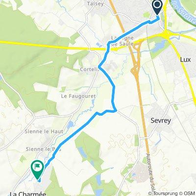 Itinéraire modéré en La Charmée