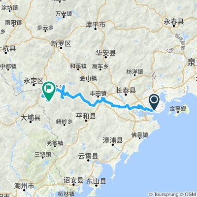 Xiamen Chuxi Tulouqun via Shiqiao (entre Taxia et Meilin)