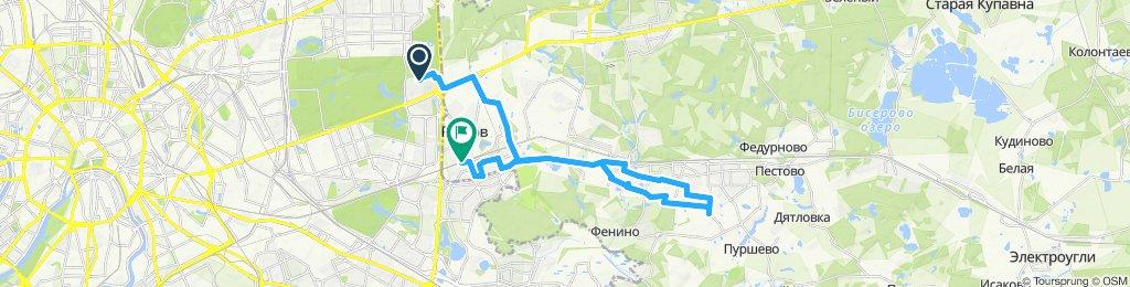 Осенние полуснежно-полугололедные велоездки Кучино-Железнодорожный -  Реутов -31 10 2019