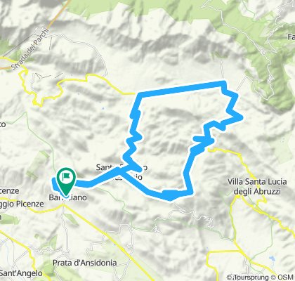Rocca Calascio okruh_Ruda