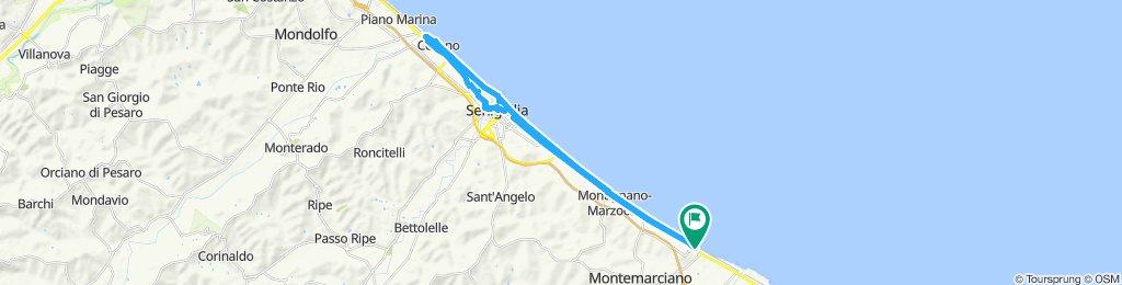 Giro Marina di Montemarciano- Cesano di Senigallia