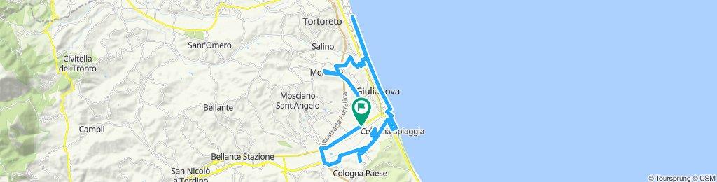 Tour veloce in Colleranesco/montone/Tortoreto/Giulianova/Cologna