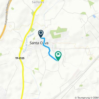 Restful route in Santa Oliva