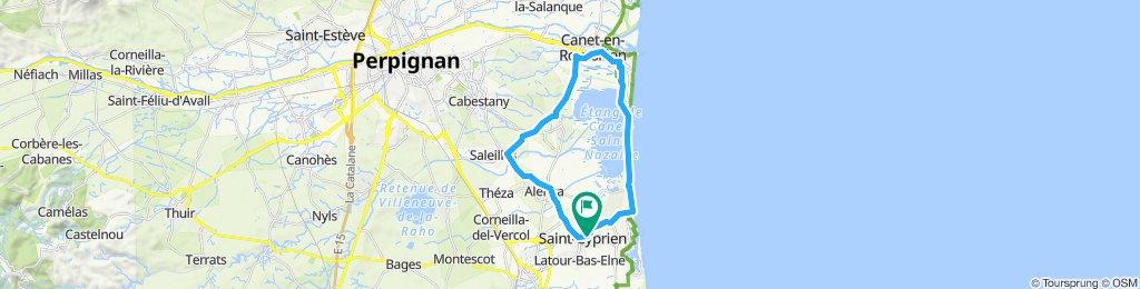 Tour etang de Canet en Roussillon (66)