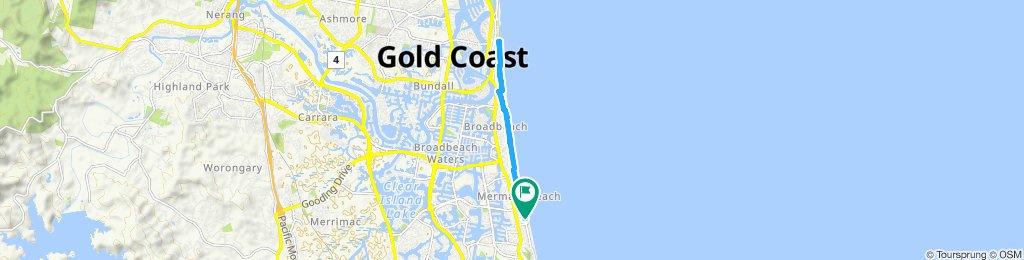 Restful route in Mermaid Beach
