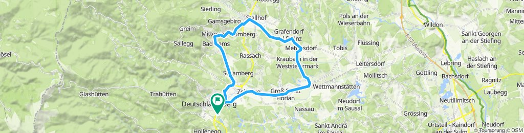 Knackige Fahrt in Deutschlandsberg