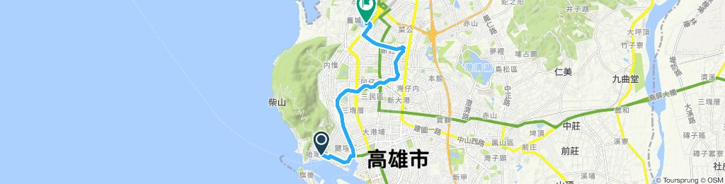 Relaxed route in Zuoying District