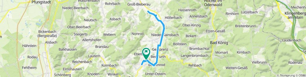 Zrelaksowana trasa w Reichelsheim