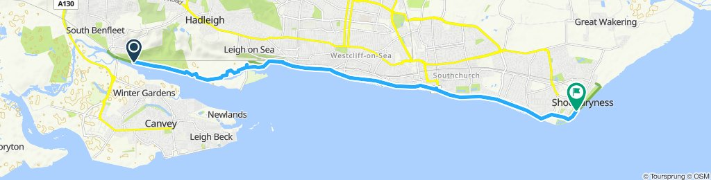 Restful route in Southend-on-Sea