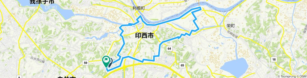 Relaxed route in Shiroi-Shi