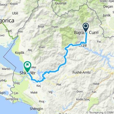 Dag 7 Bajram curri - shkoder (70 km - 800hm)