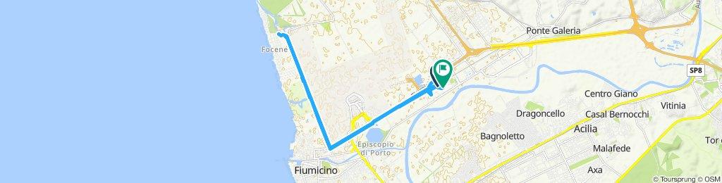 Giro a velocità costante in Fiumicino