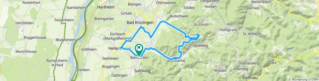 Gemütliche Route in Ballrechten-Dottingen
