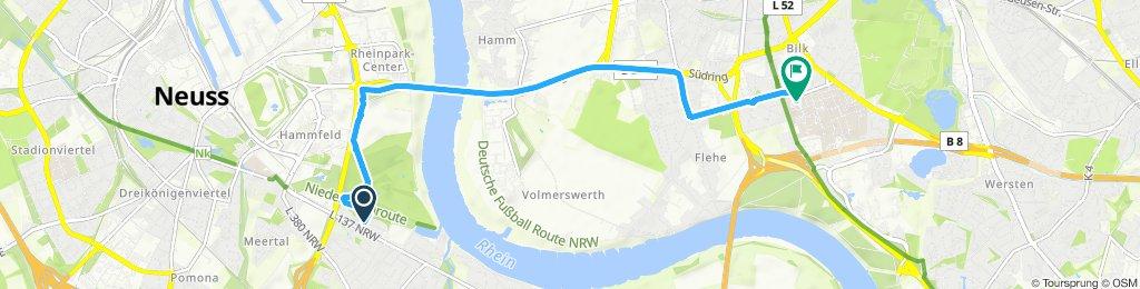Gerade Fahrt in Düsseldorf