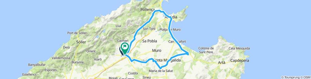 Cami vell de Pollença-Campanet-Pollença-Alcudia-Ca´n Picafort-Sta. Margalida-Maria Salut-Llubi-Inca