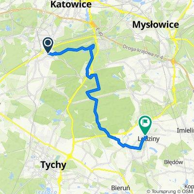 Czarny szlak rowerowy nr 101 Katowice – Lędziny