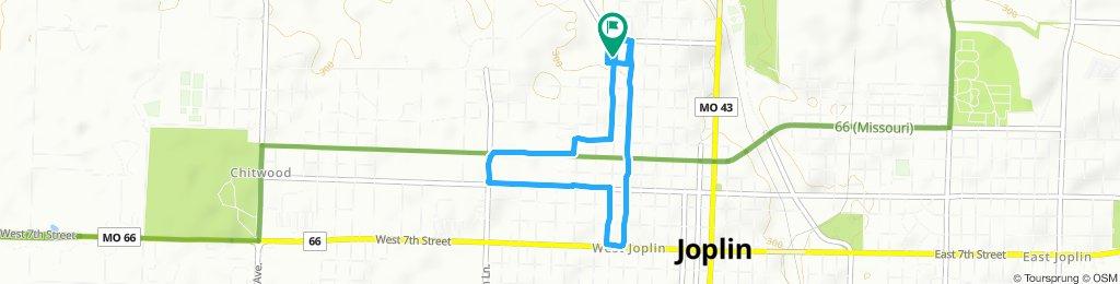 Rode my bicycle around neighborhood.