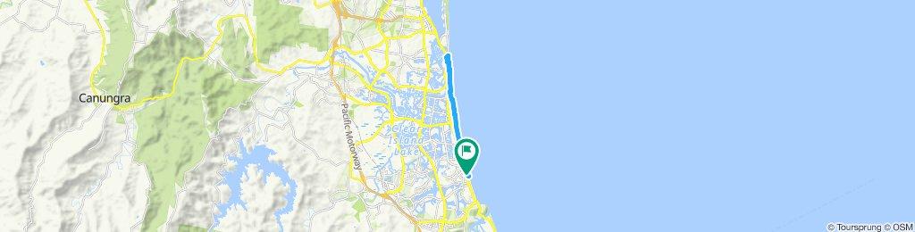 Moderate route in Miami