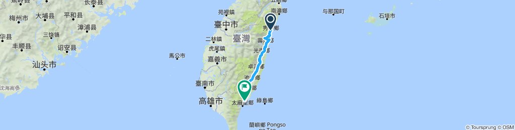 T5 Taitung to Taroko Xincheng
