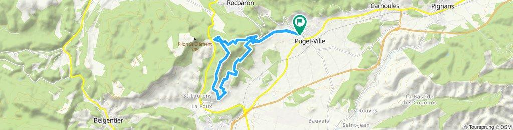Itinéraire modéré en Puget-ville