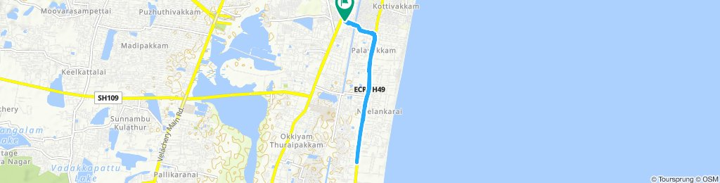 Relaxed route in Chennai