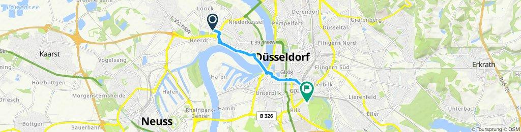 Entspannende Route in Düsseldorf