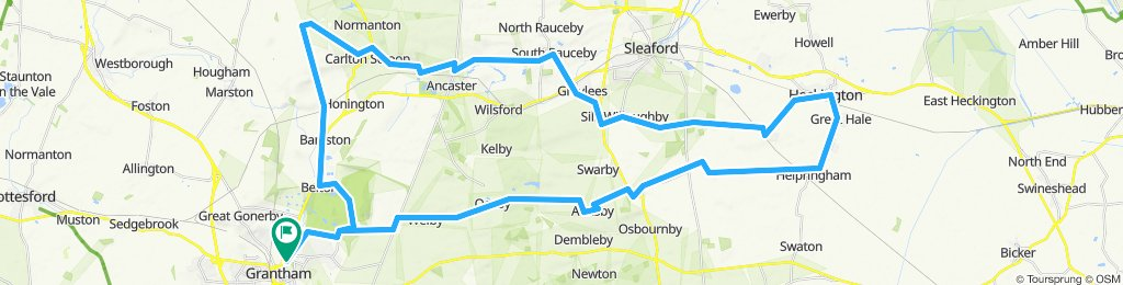 45 miles via Heckington