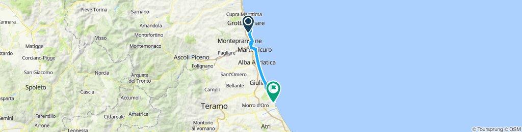 Abruzzo Coast - Primo tratto: Da San Benedetto del Tronto (AP) a Roseto degli Abruzzi (TE)