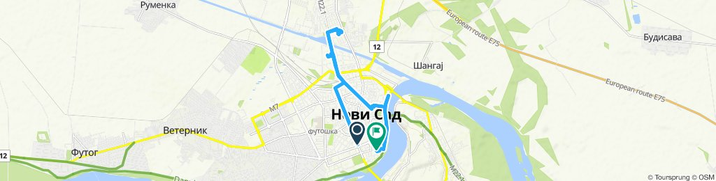 Relaxed route in Novi Sad