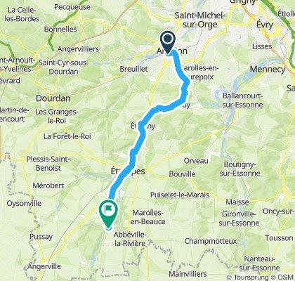 Itinéraire modéré en Saclas