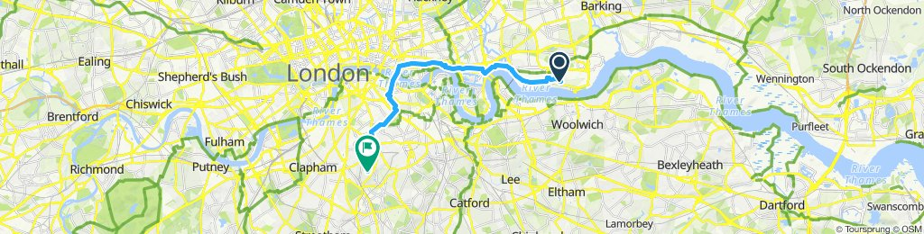 Relaxed route in London