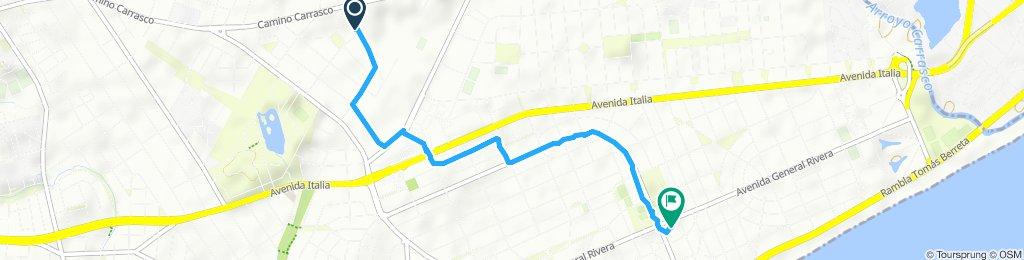 Ruta constante en Montevideo