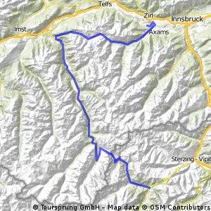 Route Physionea Alpentour 2010 1. Tag