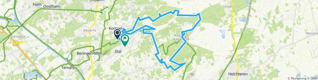 stevige route stal/beringen/Hechtel