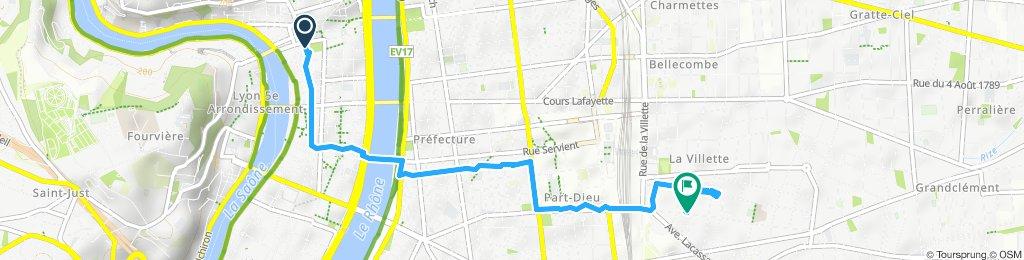 Itinéraire dans Lyon