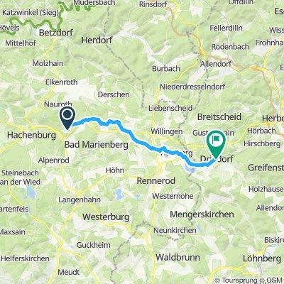 Langsame Fahrt in Driedorf