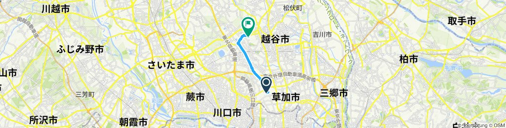 Easy ride in Koshigaya-Shi