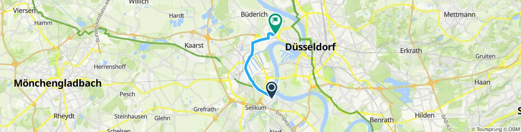 Knackige Fahrt in Düsseldorf